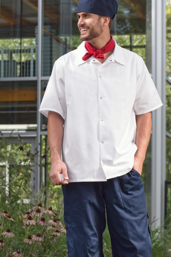 No Pocket Utility Cook Shirt by Uncommon Threads