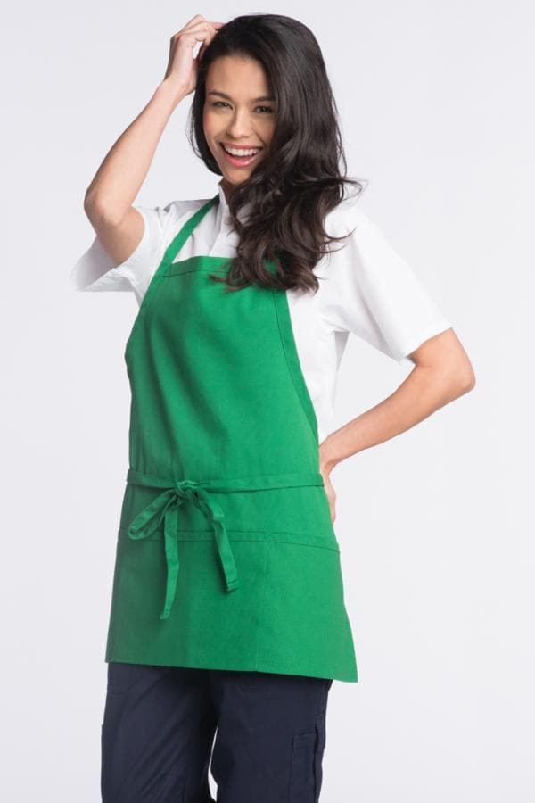 "Bib Aprons 28""W x 24""L with Adjustable Neck, 3 Lower Pockets"