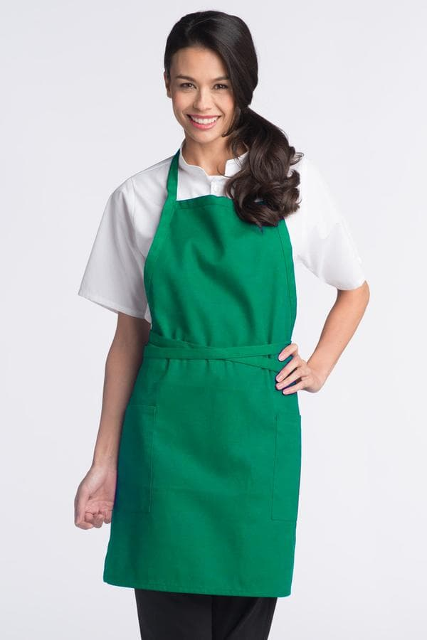 "Bib Aprons 23""W x 30""L with Adjustable Neck, 2 Lower Pockets"