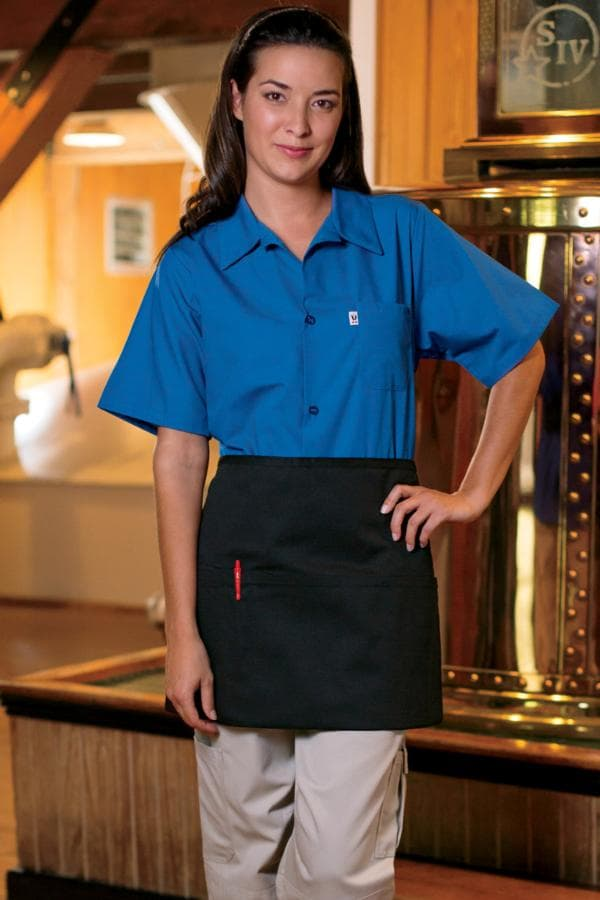 "Waist Aprons 22""W x 15""L (Reversible) with 3 Lower Pockets, 1 Pencil Pocket"