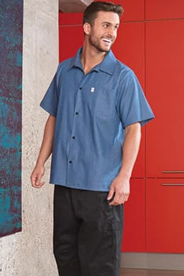 Chambray Classic Chef Shirt by Uncommon Threads
