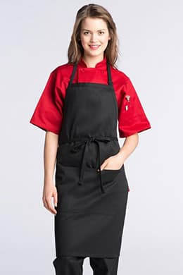 "Bib Aprons 23""W x 34""L with Adjustable Neck, 2 Lower Center Pockets"