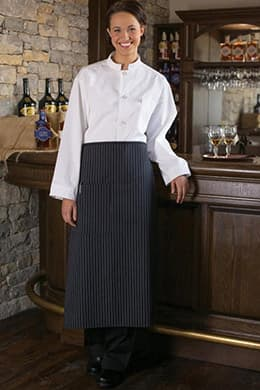 "Bistro Aprons 28""W x 33""L with 1 Lower Pocket with Pencil Insert"