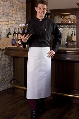 "Bistro Aprons 28""W x 33""L with 2 Lower Pockets"
