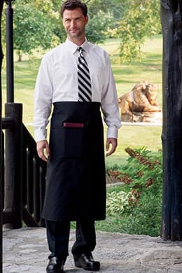 "Bistro Aprons 30""W x 32""L (Reversible) with 1 Lower Pocket with Pencil Insert"