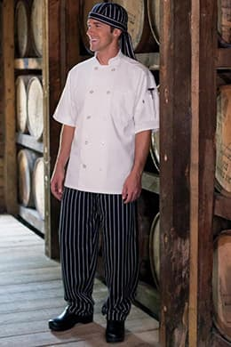 "Classic Baggy Chef Pants (2"" Elastic Waist, Cotton) by Uncommon Threads"