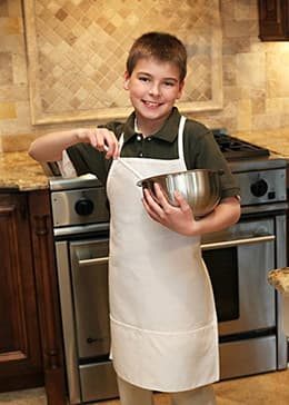 "Kids Aprons 20""W x 25""L (Youth Size) with 2 Lower Pockets"