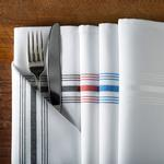 "Signature Stripe Bistro Napkins 18""x22"" by Milliken"